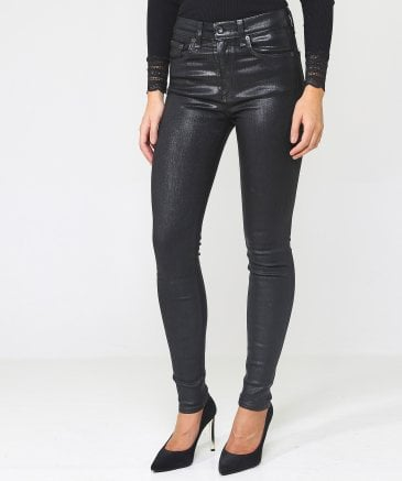 Rag and Bone Women's High Rise Coated Skinny Jeans