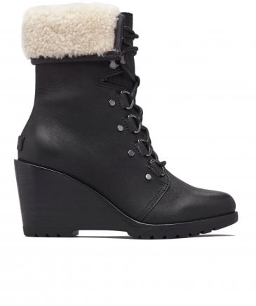 Sorel Women's Leather After Hours Lace Shearling Boots