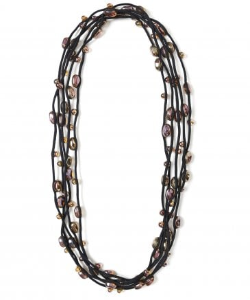 Jianhui Women's Multi Strand Glass Bead Necklace