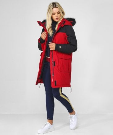 Tommy Hilfiger Women's Icons Colour Block Parka