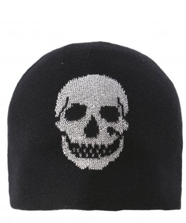 360 Sweater Women's Wool & Cashmere Brigit Skull Beanie Hat