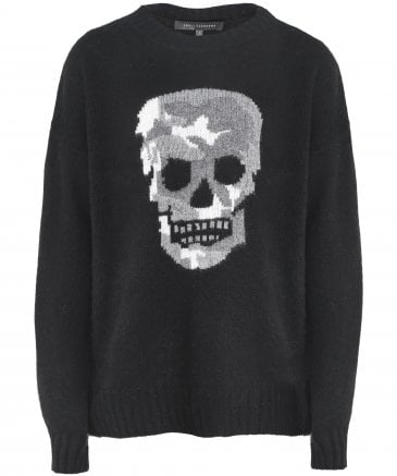 360 Sweater Women's Cashmere & Wool Felice Skull Jumper