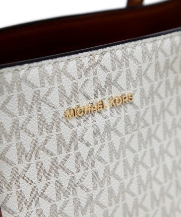 Michael Kors Women's Leather Voyager Logo Tote Bag