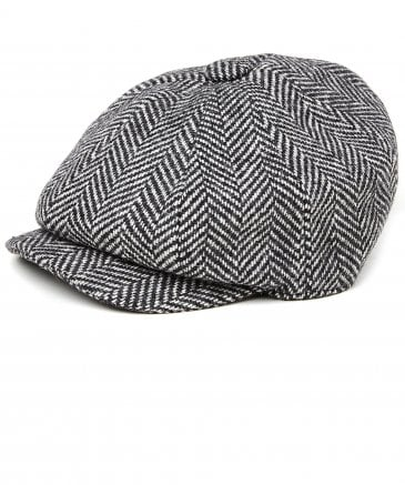 Holland Cooper Tweed Herringbone Baker Boy Cap