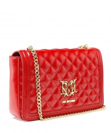 Moschino Love Moschino Women's Quilted Logo Shoulder Bag