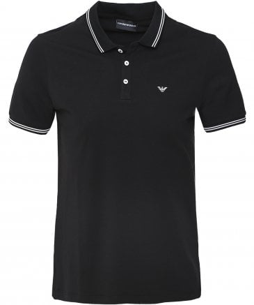 Pique Cotton Twin Tipped Polo Shirt