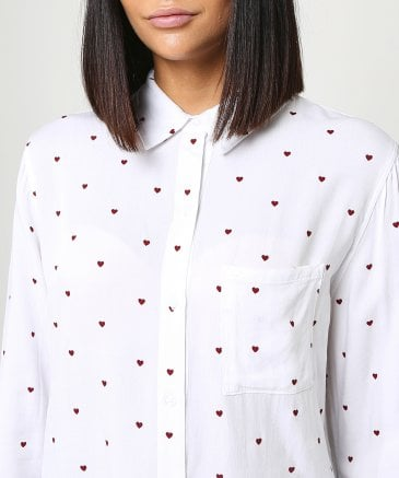 Rails Women's Rocsi Heart Print Shirt