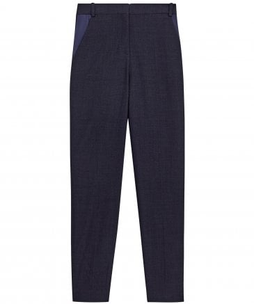 Victoria Victoria Beckham Women's Virgin Wool Blend Tapered Leg Trousers