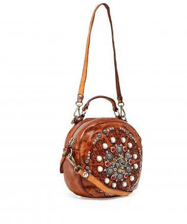 Campomaggi Women's Leather Studded Bowling Bag