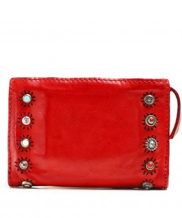 Campomaggi Women's Leather Purse with Ravenna Studs