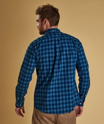 Barbour Men's Tailored Fit Indigo Check Shirt