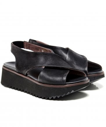 Lofina Women's Leather Cross Sandals