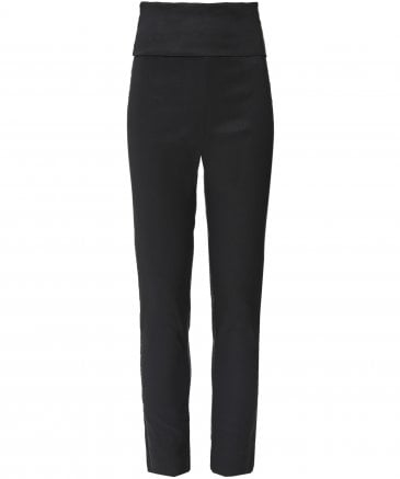 Crea Concept Women's Linen Blend Stretch Fit Trousers