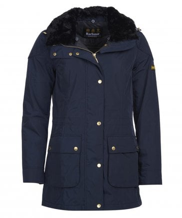 Barbour International Women's Fur Collar Jacket