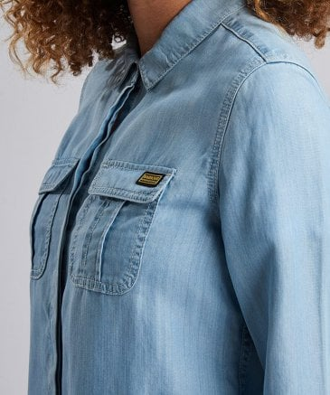 Barbour International Women's Hurdle Denim Shirt