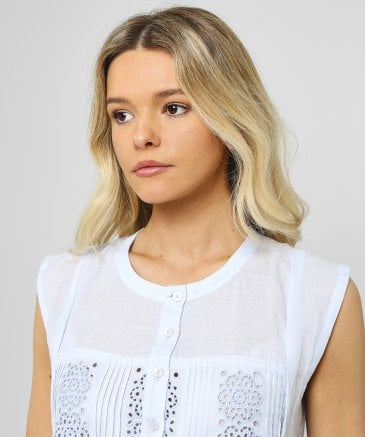 High Women's Secret Floral Embroidered Blouse