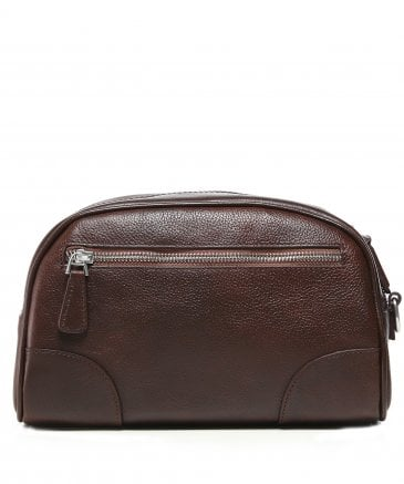 Hackett Men's Leather Foxley Wash Bag