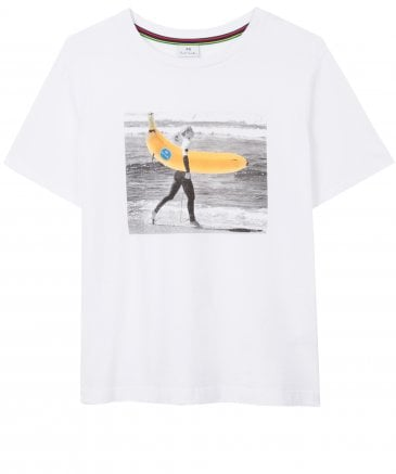 PS by Paul Smith Women's Cotton 'Gone Bananas' Print T-Shirt