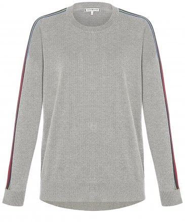 Tommy Hilfiger Women's Organic Cotton Jacklyn Contrast Tape Jumper