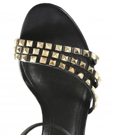 Ash Women's Leather Hello Studded Heeled Sandals
