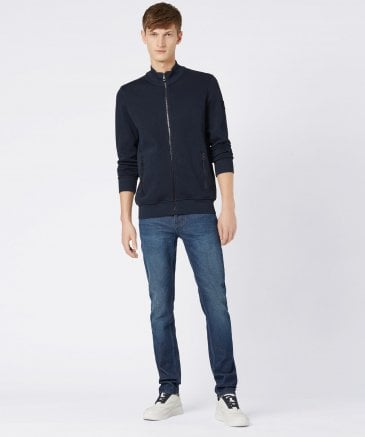 BOSS Men's Relaxed Fit Jersey Zildman Sweatshirt