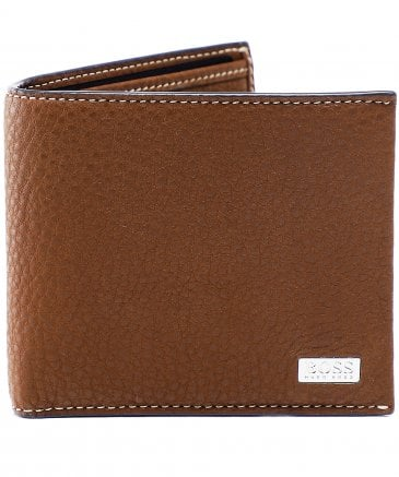 BOSS Men's Leather Crosstown Wallet