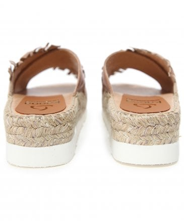 Kanna Women's Crossover Espadrille Wedge Sandals