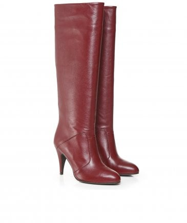 Tommy Hilfiger Women's Zendaya Leather Heeled Boots