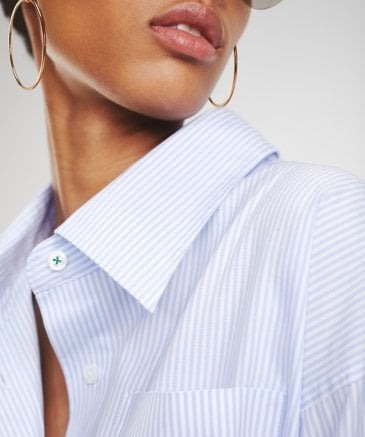 Tommy Hilfiger Women's Zendaya Striped Cotton Oxford Shirt