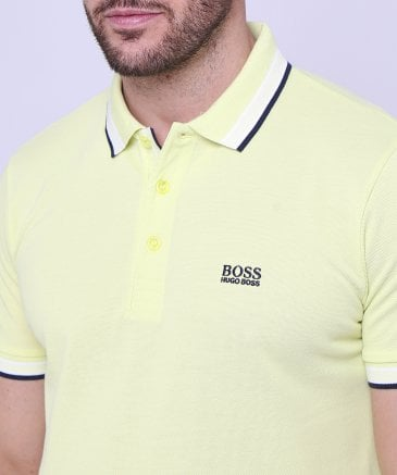 eeed2005e9f BOSS Yellow Regular Fit Pique Paddy Polo Shirt