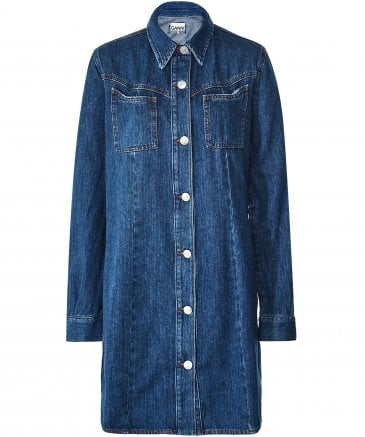 Ganni Women's Sagamore Denim Shirt Dress