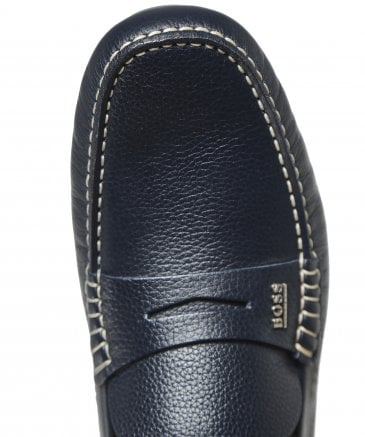 2c5521c0c BOSS Navy Tumbled Leather Driver Mocc grhw Loafers