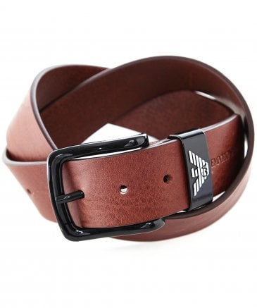 Emporio Armani Men's Textured Leather Belt