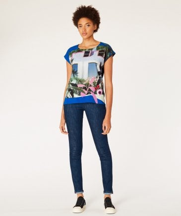 PS by Paul Smith Women's 'Tropical Miami' Print T-Shirt