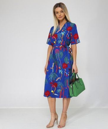 PS by Paul Smith Women's Jungle Print Wrap Dress