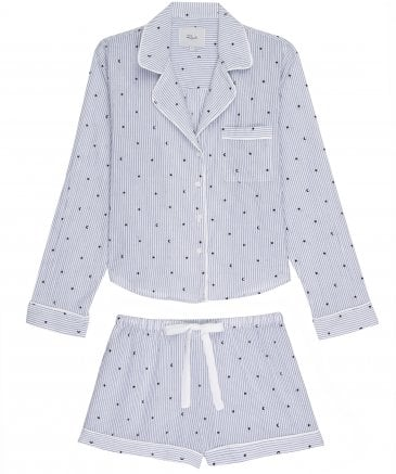 Rails Women's Flocked Moon and Stars Short Pyjama Set
