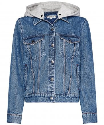 Tommy Hilfiger Women's Veronica Hooded Denim Jacket