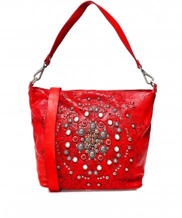 Campomaggi Women's Leather Studded Shopper Bag