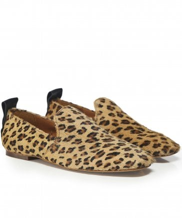 H by Hudson Women's Hattie Leopard Print Loafers