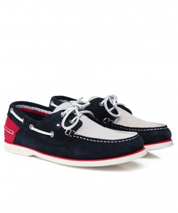 32b7daf9498 Tommy Hilfiger Classic Suede Boat Shoes