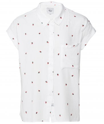 Rails Women's Whitney Strawberry Fields Short Sleeve Shirt