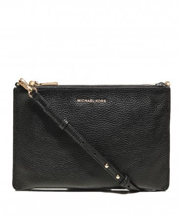 4efc0d56a8f6 One Size · MICHAEL Michael Kors Women s Pebbled Leather Double Pouch  Crossbody Bag