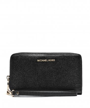 MICHAEL Michael Kors Women's Large Leather Smartphone Wristlet