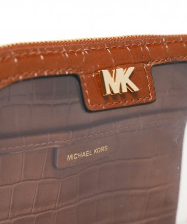 MICHAEL Michael Kors Women's Large PVC and Leather Travel Pouch