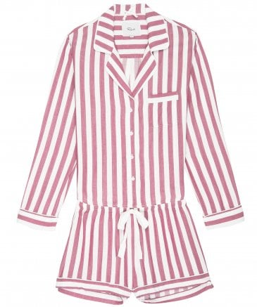 Rails Women's Garnet White Stripe Short Pyjama Set