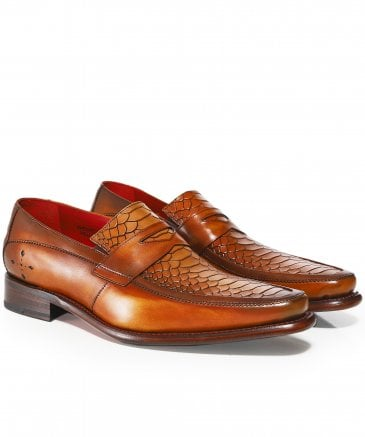 5c435cd02014 Jeffery-West Brown Leather Melly Penny Loafers