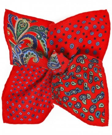 Ascot Men's Wool Paisley Pocket Square