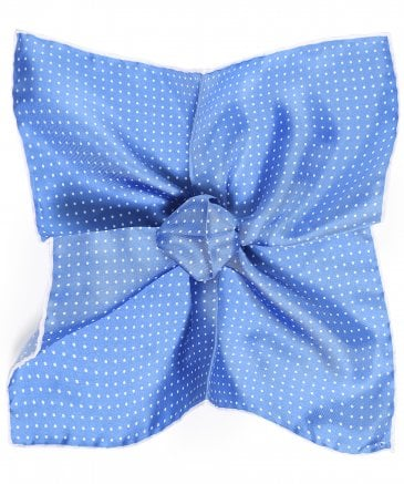 Ascot Men's Silk Polka Dot Pocket Square