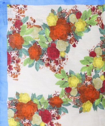 Ascot Men's Linen Floral Pocket Square
