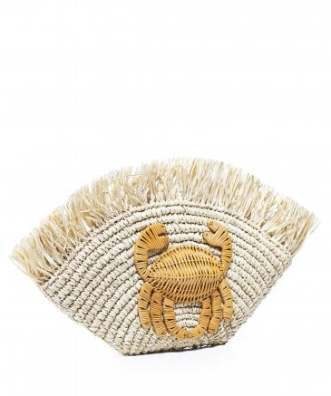 Aranaz Women's Malia Woven Crab Clutch Bag